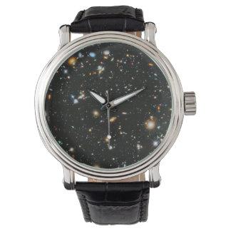 Sterne im Raum - Hubble ultra tiefes Feld Armbanduhr