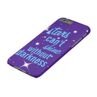 Sterne können nicht ohne Dunkelheitstelefonkasten Barely There iPhone 6 Hülle