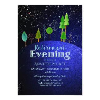 Sterne sagen… Starry Abends-Ruhestands-Party 12,7 X 17,8 Cm Einladungskarte