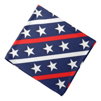 Sterne u. Streifen, blauer Backgroud patriotischer Kopftuch