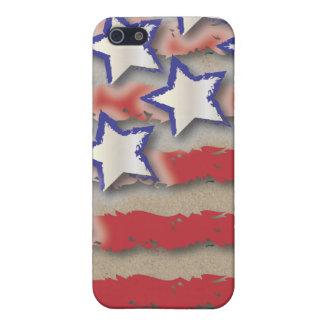 Sterne u. Streifen USA-Flaggen-rotes weißes Blau iPhone 5 Cover