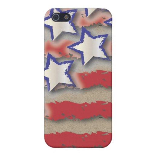 Sterne u. Streifen USA-Flaggen-rotes weißes Blau iPhone 5 Etui