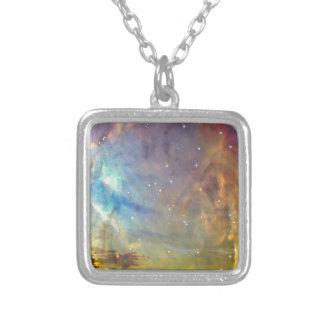 Sterne über Orion Versilberte Kette