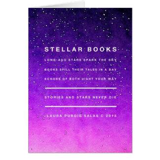 Sterne und Bücher Karte