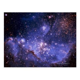 Sterne und Milchstraße Postkarte
