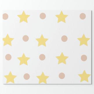 Sterne und Punkte Geschenkpapier