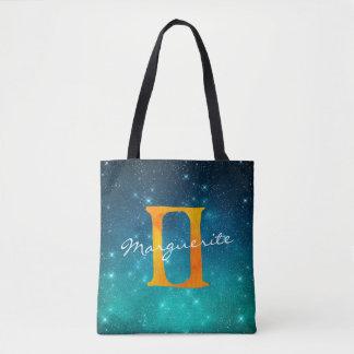 Sternenklare Himmel-Tierkreissun-Zeichen-Zwillinge Tasche
