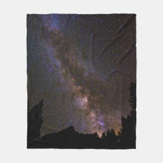 Sternenklare Milchstraße, Kalifornien Fleecedecke