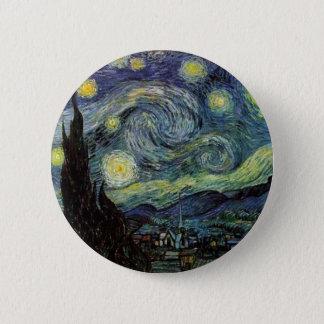 sternenklare Nacht, 1889, Vincent van Gogh Runder Button 5,1 Cm