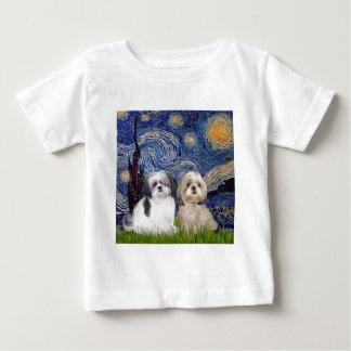 Sternenklare Nacht - 2 Shih Tzus (A+Y) Baby T-shirt