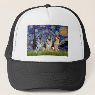 Sternenklare Nacht - 3 Schäferhunde Truckerkappe