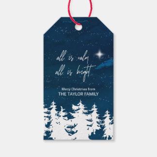 Sternenklare Nacht alle ist Ruhe, die alles helles Geschenkanhänger