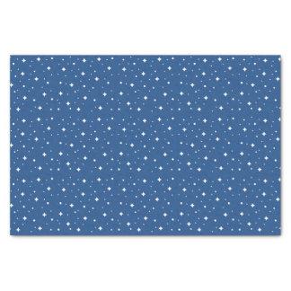 Sternenklare Nacht auf einem dunkelblauen Seidenpapier