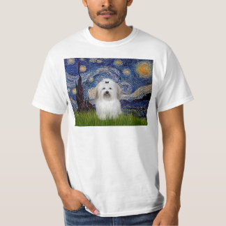 Sternenklare Nacht - Baumwolle de Tulear 2 T-Shirt