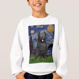 Sternenklare Nacht - Briard (Schwarzes) Sweatshirt