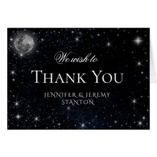 Sternenklare Nacht danken Ihnen zu kardieren Karte