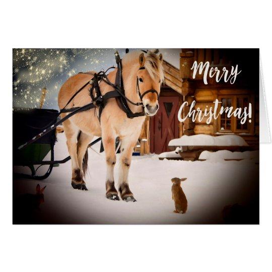 Sternenklare Nacht der frohen Weihnachten am Mitteilungskarte