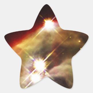 Sternenklare Nacht des Kegel-Nebelflecks Stern-Aufkleber