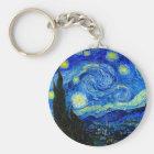 Sternenklare Nacht durch Van Gogh Schlüsselanhänger