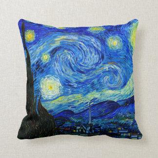 Sternenklare Nacht durch Van- GoghKunst-Kissen Zierkissen