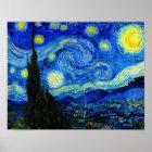 Sternenklare Nacht durch Van- Poster