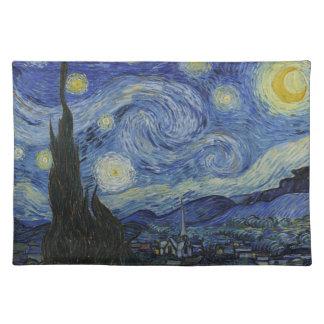 Sternenklare Nacht durch Vincent van Gogh - 1889 Stofftischset