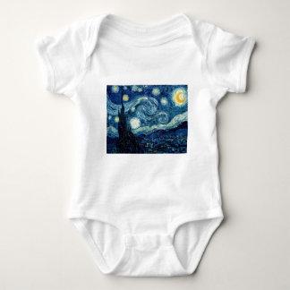 Sternenklare Nacht durch Vincent van Gogh Baby Strampler