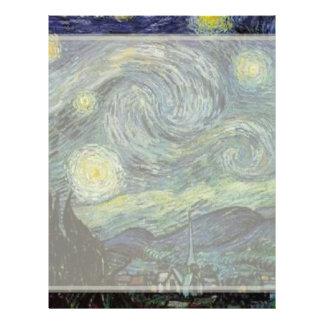 Sternenklare Nacht durch Vincent van Gogh. Flyer
