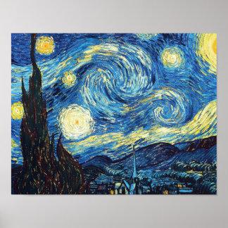 Sternenklare Nacht durch Vincent van Gogh Poster