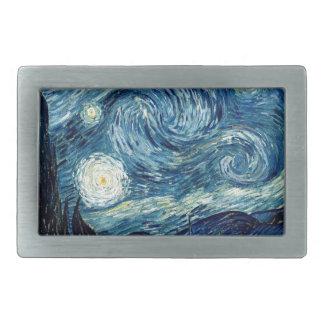 Sternenklare Nacht durch Vincent van Gogh Rechteckige Gürtelschnalle