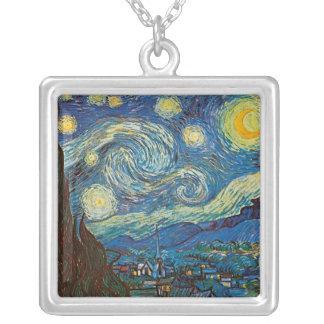 Sternenklare Nacht durch Vincent van Versilberte Kette