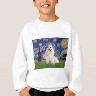 Sternenklare Nacht - Havanese (Weiß/Creme) Sweatshirt