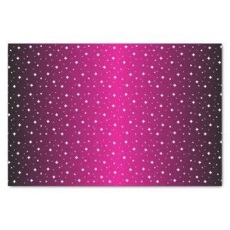 Sternenklare Nacht im glänzenden Pink Seidenpapier