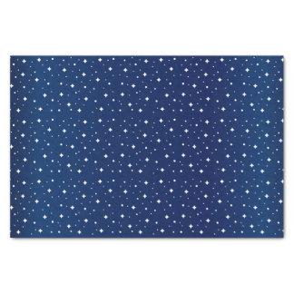 Sternenklare Nacht im Steigungs-Marine-Blau Seidenpapier
