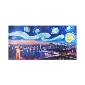 Sternenklare Nacht in London Leinwanddruck