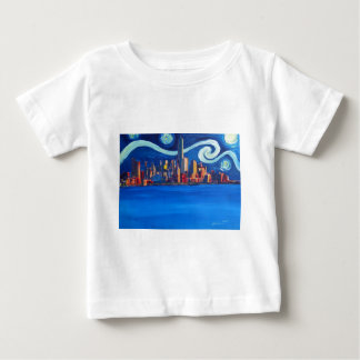 Sternenklare Nacht in New York City - Baby T-shirt