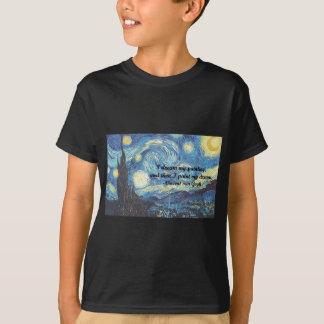 Sternenklare Nacht mit i-Farbe mein Traumzitat T-Shirt