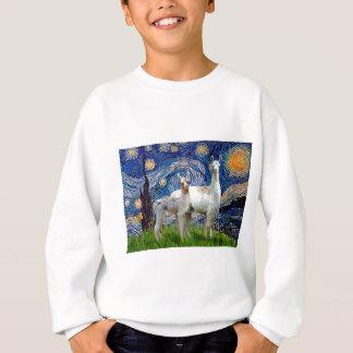 Sternenklare Nacht mit zwei Lamas Sweatshirt
