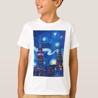 Sternenklare Nacht New York T-Shirt