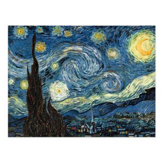 Sternenklare Nacht Postkarte