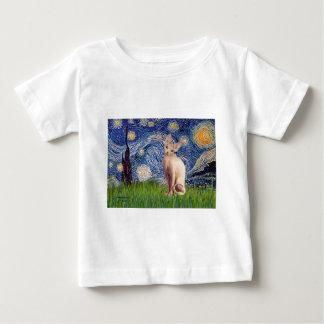Sternenklare Nacht - SahneSphynx Katze Baby T-shirt