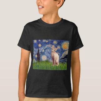 Sternenklare Nacht - SahneSphynx Katze T-Shirt