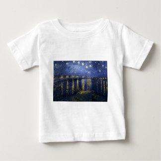 Sternenklare Nacht über dem Fluss Rhône Baby T-shirt