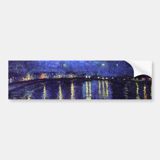 sternenklare Nacht über der Rhône 1890 Autoaufkleber