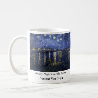 Sternenklare Nacht über der Rhône - dem Van Gogh Kaffeetasse