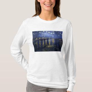 Sternenklare Nacht über der Rhône - dem Van Gogh T-Shirt