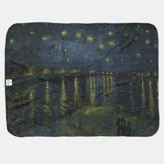 Sternenklare Nacht über der Rhône durch Van Gogh Babydecke