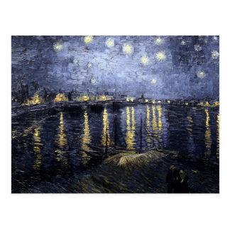 Sternenklare Nacht über der Rhône durch Vincent Postkarte