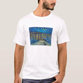Sternenklare Nacht über der Rhône T-Shirt