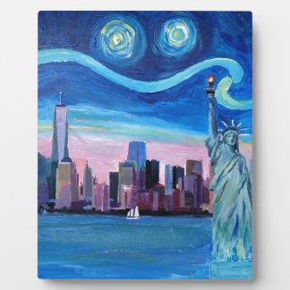 Sternenklare Nacht über Manhattan mit Fotoplatte